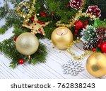 christmas background  christmas ... | Shutterstock . vector #762838243