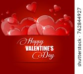 happy valentine's day card with ... | Shutterstock . vector #762844927