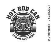 template of hot rod car logo ... | Shutterstock .eps vector #762853327