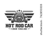 template of hot rod car logo ... | Shutterstock .eps vector #762853333