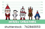christmas character most wanted ... | Shutterstock .eps vector #762860053