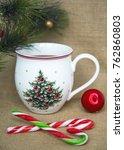 cozy winter home background ... | Shutterstock . vector #762860803