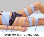 the procedure of myostimulation ... | Shutterstock . vector #762877807