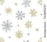 christmas snowflake hand...   Shutterstock .eps vector #762890257