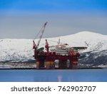 north sea in norway tromso | Shutterstock . vector #762902707