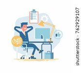 cool vector design element on... | Shutterstock .eps vector #762929107