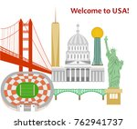 illustration in style of flat... | Shutterstock .eps vector #762941737