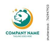 panda logo. vector.... | Shutterstock .eps vector #762947923