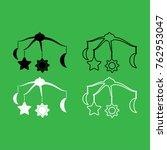 360 degrees rotating hanging... | Shutterstock .eps vector #762953047