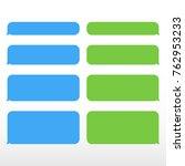 set message service bubbles...   Shutterstock .eps vector #762953233