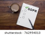 general data protection... | Shutterstock . vector #762954013