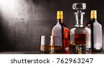 composition with carafe and...   Shutterstock . vector #762963247
