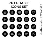 set of 20 gear outline icons... | Shutterstock .eps vector #762968527