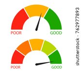 credit score indicator set.... | Shutterstock .eps vector #762977893