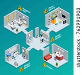 laboratory concept with... | Shutterstock . vector #762991903