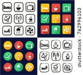motel or hotel all in one icons ... | Shutterstock .eps vector #762996103