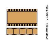 movie countdown  vintage silent ... | Shutterstock .eps vector #763005553