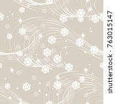 vector of christmas seamless... | Shutterstock .eps vector #763015147
