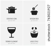 set of 4 editable restaurant...