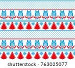 christmas new year's winter... | Shutterstock .eps vector #763025077