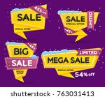 christmas and new year's sale.... | Shutterstock .eps vector #763031413
