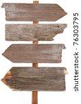 wooden sign | Shutterstock . vector #76303795
