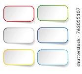 empty label sticker set | Shutterstock .eps vector #763055107