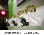 cryptocurrency mining equipment ... | Shutterstock . vector #763058257