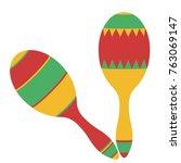 maracas  mexican maraca ...   Shutterstock .eps vector #763069147