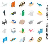 assurance icons set. isometric... | Shutterstock .eps vector #763089817