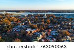 an aerial view of historic... | Shutterstock . vector #763090063