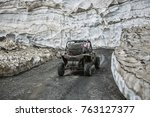 buggy mountains driving on the... | Shutterstock . vector #763127377