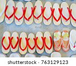 Japanese Clog Shoes Or Wooden...