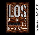 los angeles typography urban... | Shutterstock .eps vector #763130293
