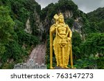 Big Golden Lord Murugan Statue...