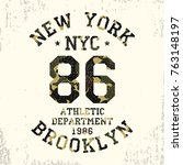new york  brooklyn   camouflage ... | Shutterstock .eps vector #763148197