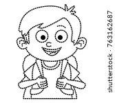 cute schoolboy cartoon   Shutterstock .eps vector #763162687