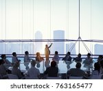 meeting room business meeting... | Shutterstock . vector #763165477