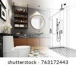 abstract sketch design of... | Shutterstock . vector #763172443