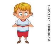 cute schoolboy cartoon   Shutterstock .eps vector #763173943