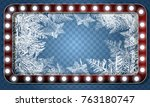 2018 new year on ice frosted... | Shutterstock .eps vector #763180747