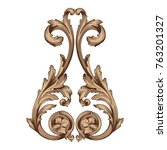 classical baroque vector of... | Shutterstock .eps vector #763201327
