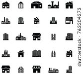 building icon set | Shutterstock .eps vector #763204273