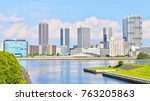 high rise tower mansions with... | Shutterstock . vector #763205863