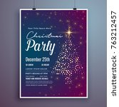 christmas invitation party card ... | Shutterstock .eps vector #763212457