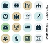 Business Icons Set With...
