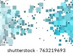 light blue vector blurry... | Shutterstock .eps vector #763219693