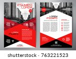 Business Brochure. Flyer Design. Leaflets a4 Template. Cover Book and Magazine. Annual Report Vector illustration | Shutterstock vector #763221523