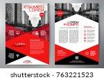 business brochure. flyer design.... | Shutterstock .eps vector #763221523
