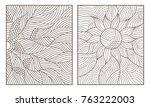 set contour illustrations of... | Shutterstock .eps vector #763222003